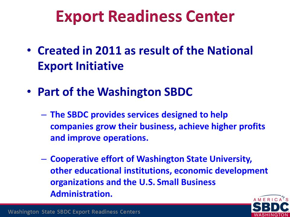Export Readiness Center
