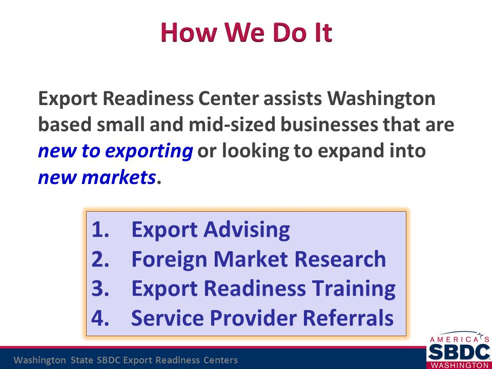 How We Do It Export Advising Foreign Market Research