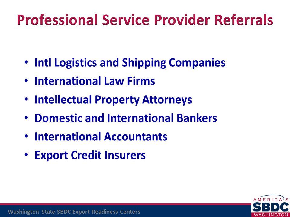 Professional Service Provider Referrals