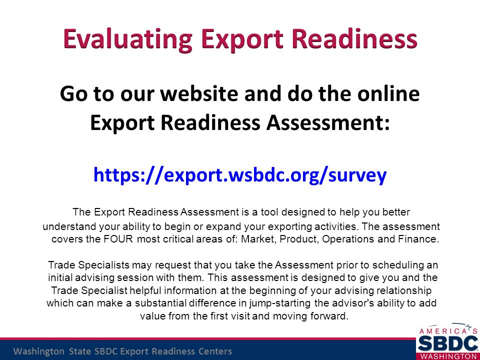 Evaluating Export Readiness