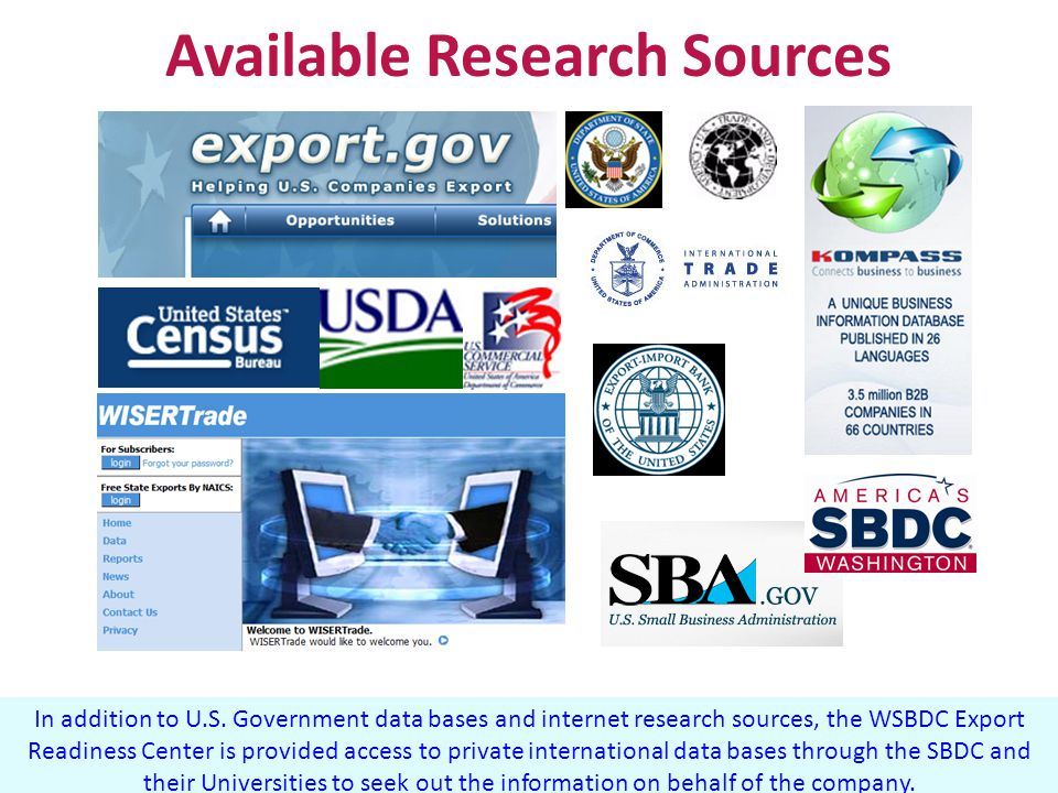 Available Research Sources