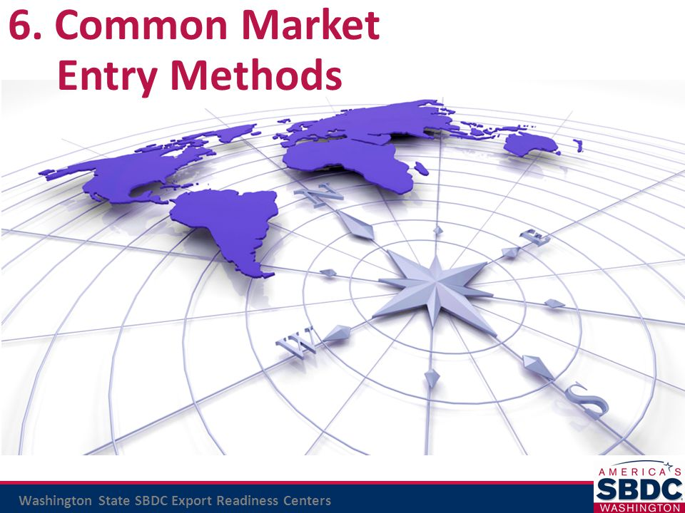 6. Common Market Entry Methods