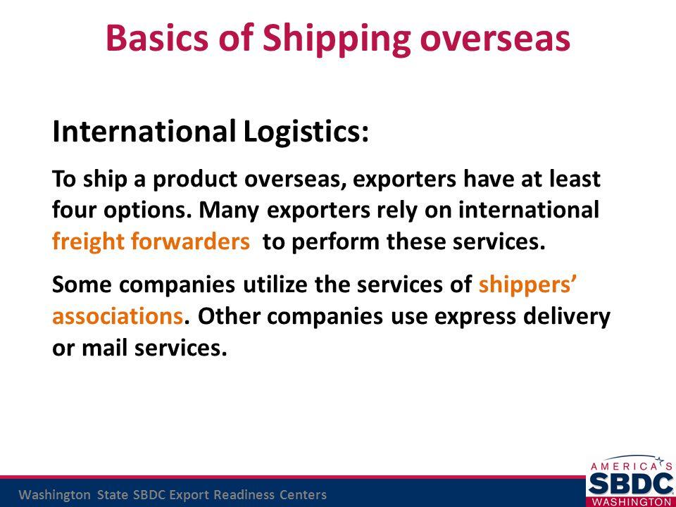 Basics of Shipping overseas