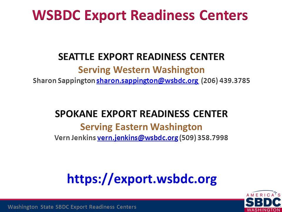 WSBDC Export Readiness Centers