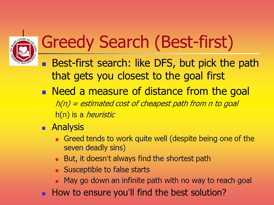 Greedy Search (Best-first)