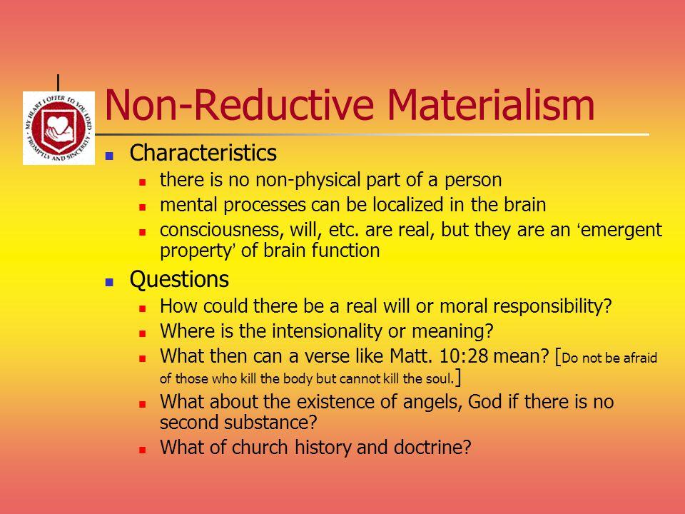 Non-Reductive Materialism