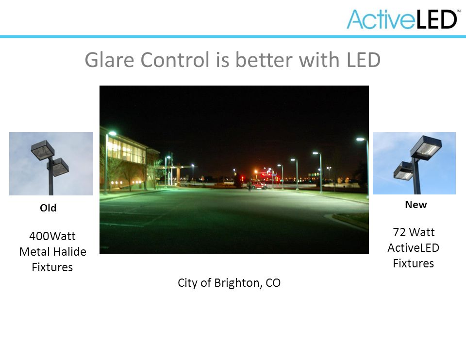 Glare Control is better with LED