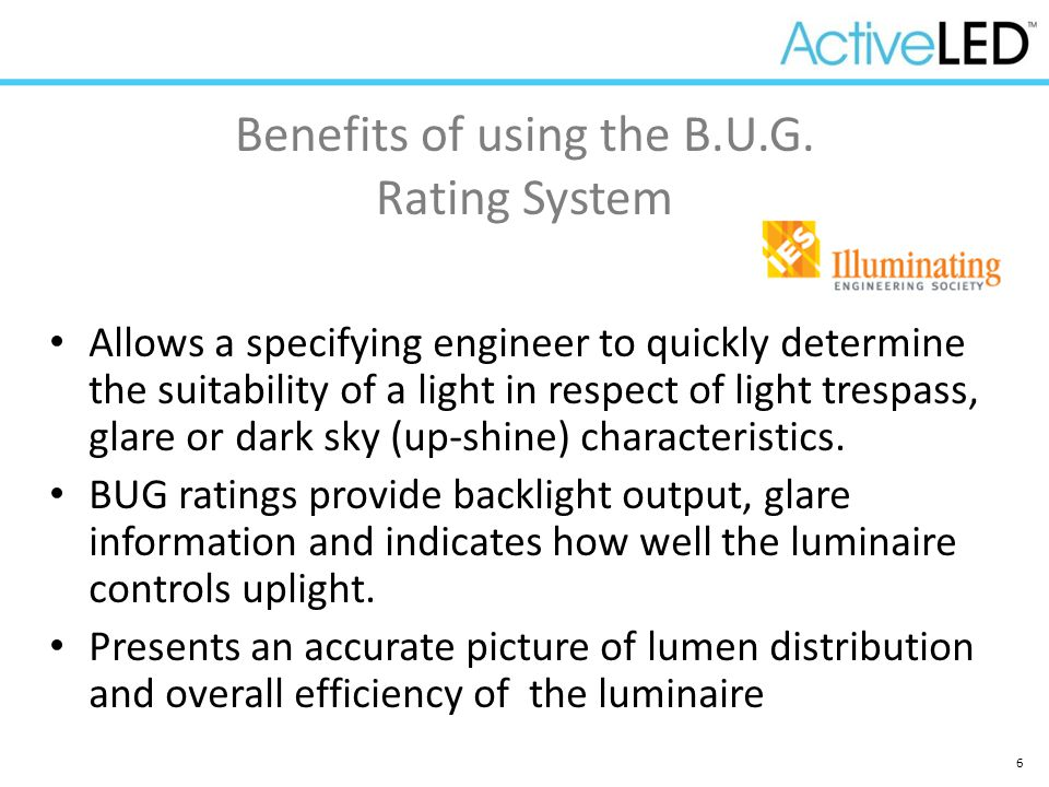 Benefits of using the B.U.G. Rating System