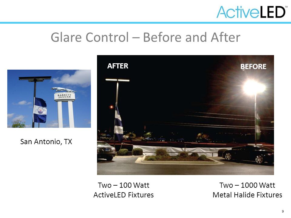 Glare Control – Before and After