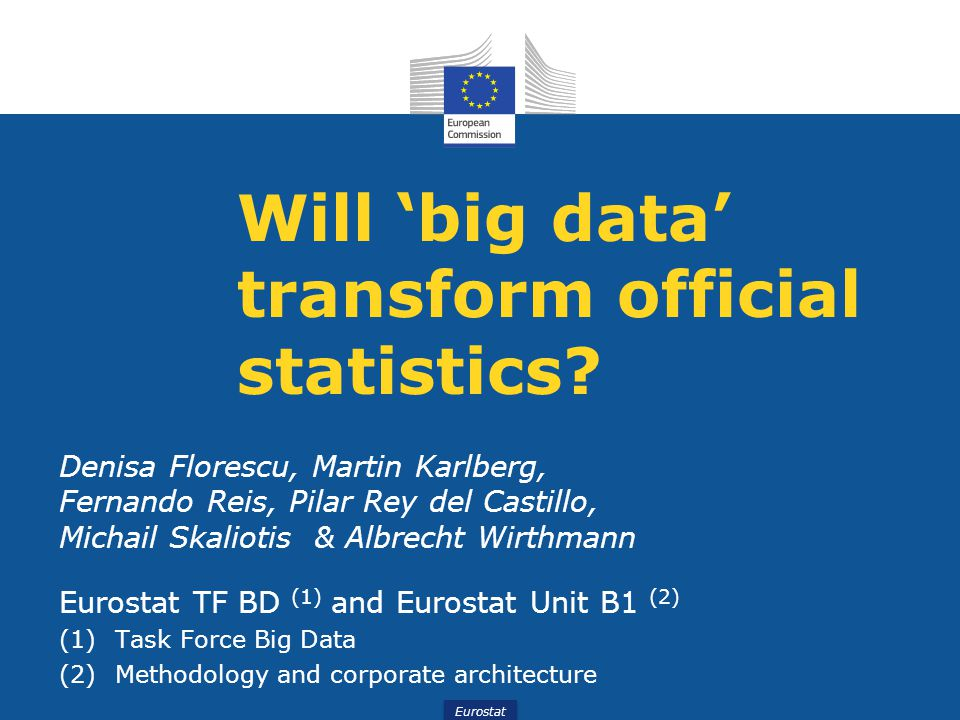 Will 'big data' transform official statistics