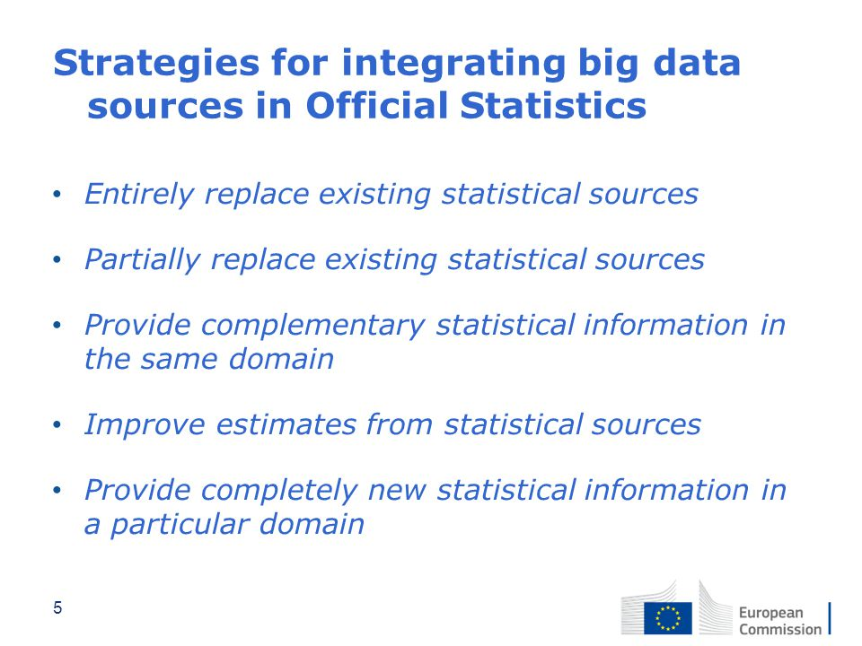 Strategies for integrating big data sources in Official Statistics