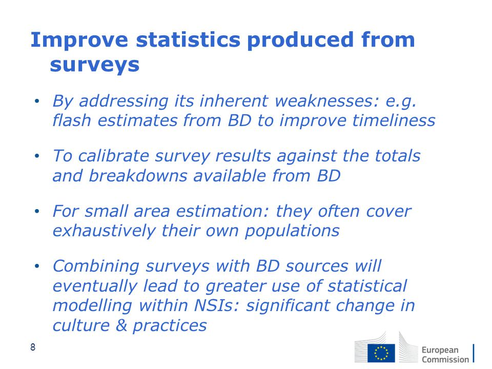 Improve statistics produced from surveys