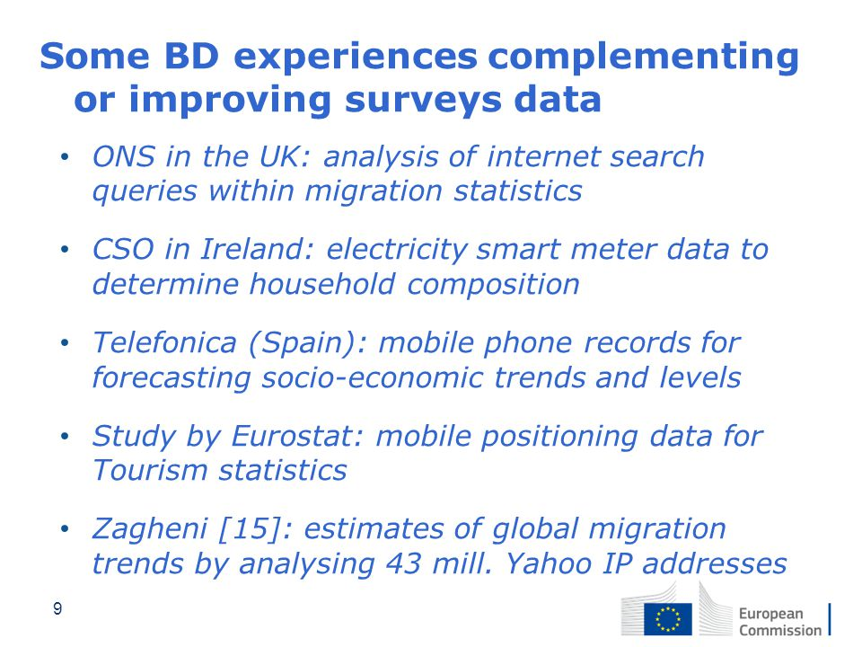 Some BD experiences complementing or improving surveys data