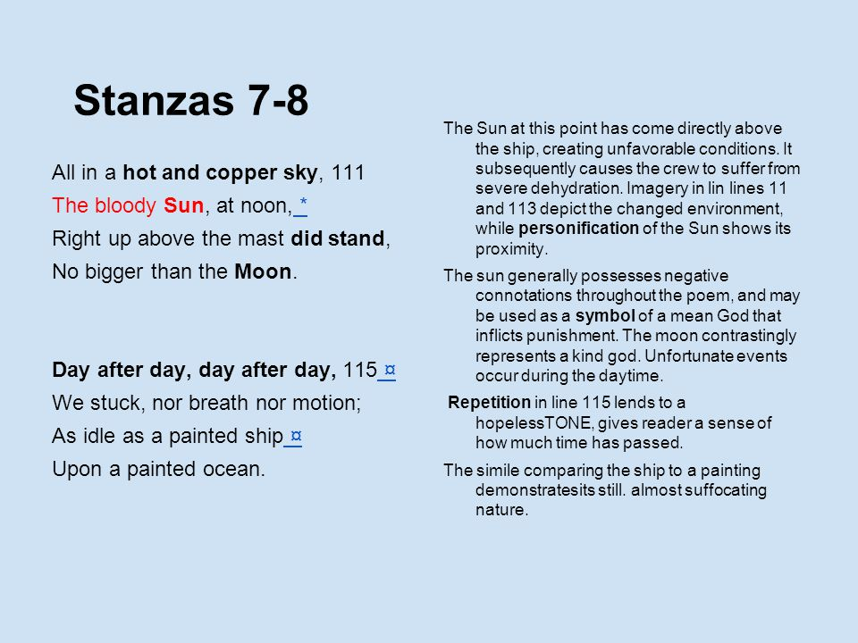 Stanzas 7-8 All in a hot and copper sky, 111