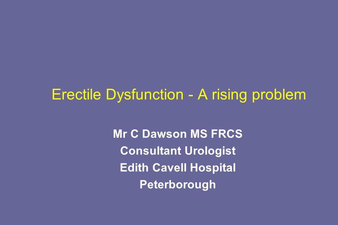 Erectile Dysfunction - A rising problem