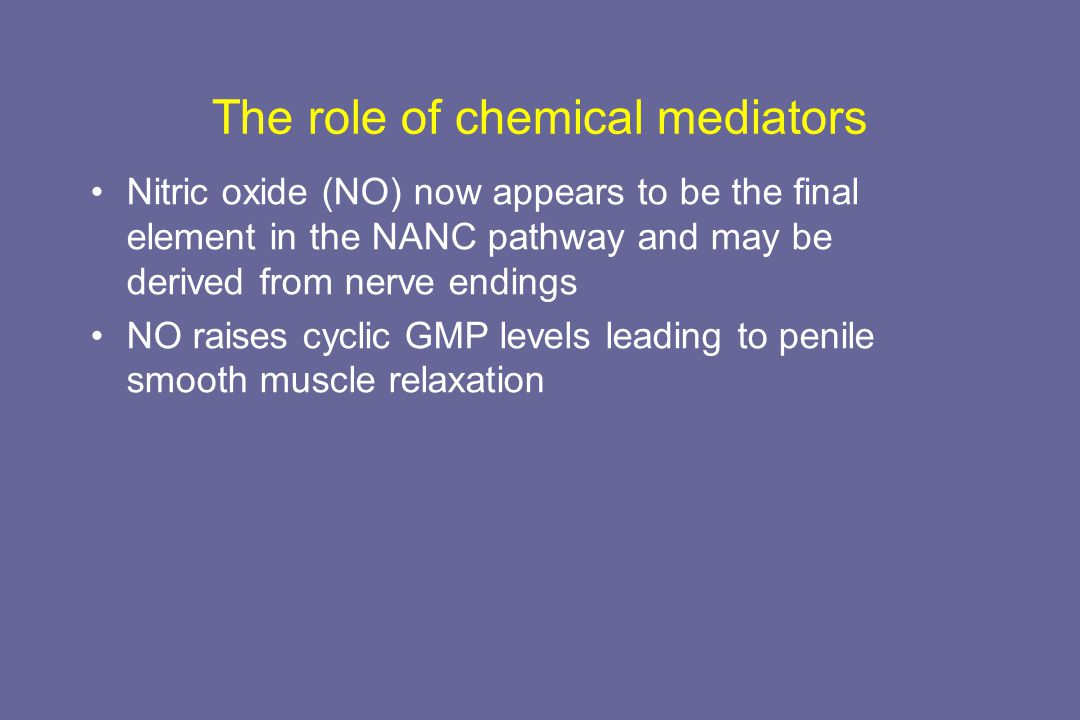 The role of chemical mediators