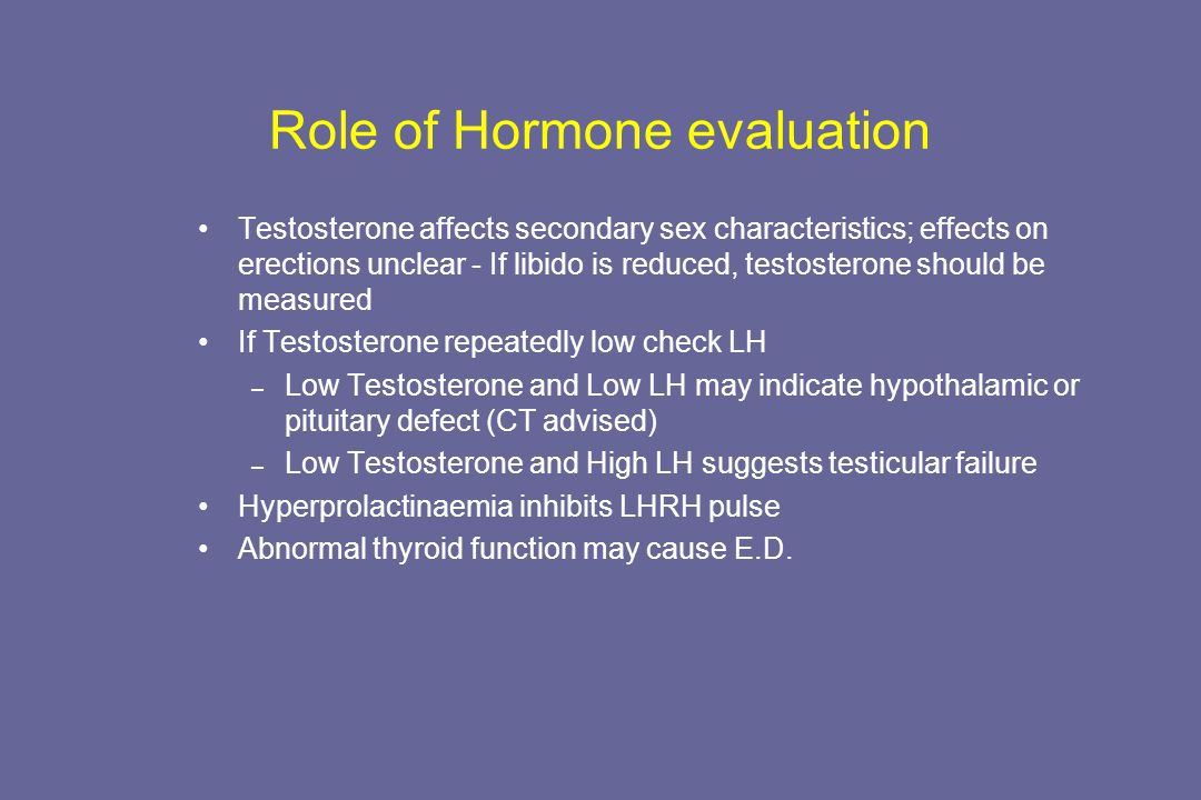 Role of Hormone evaluation