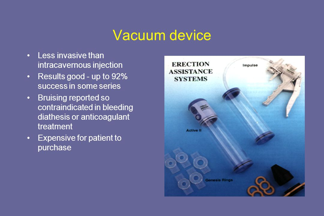 Vacuum device Vacuum results from Gillenwater p1974