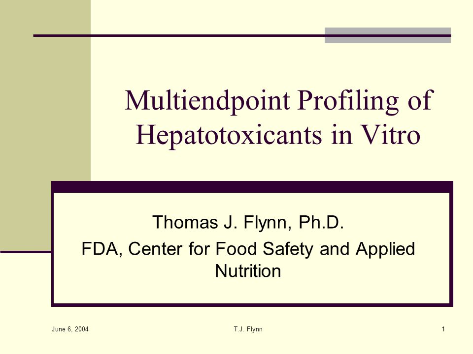 Multiendpoint Profiling of Hepatotoxicants in Vitro