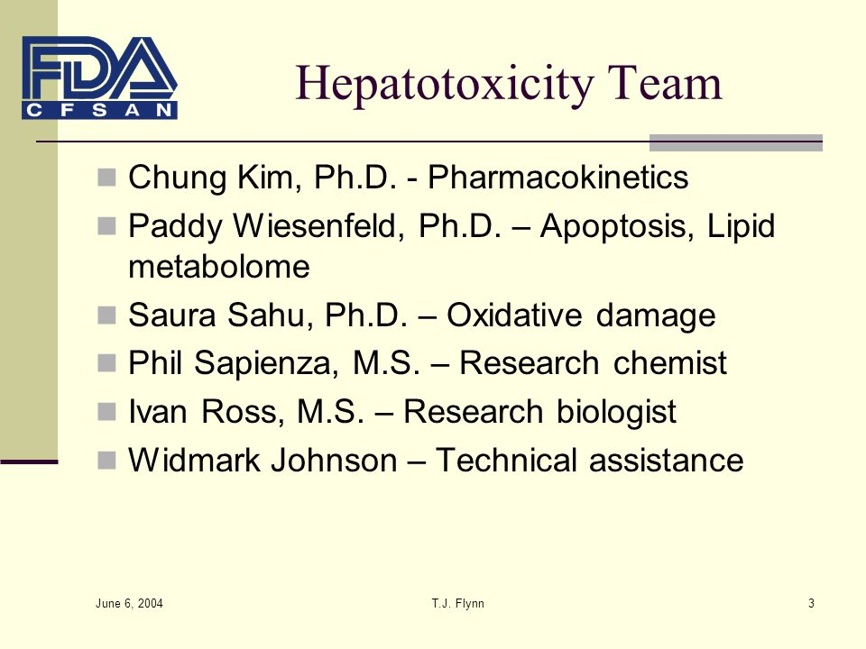 Hepatotoxicity Team Chung Kim, Ph.D. - Pharmacokinetics