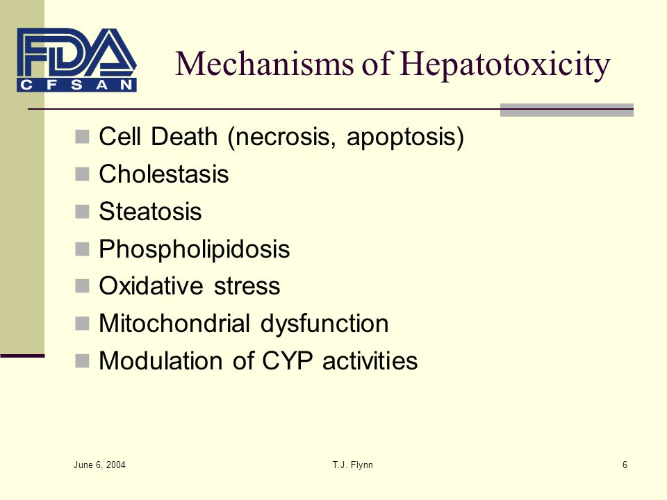 Mechanisms of Hepatotoxicity