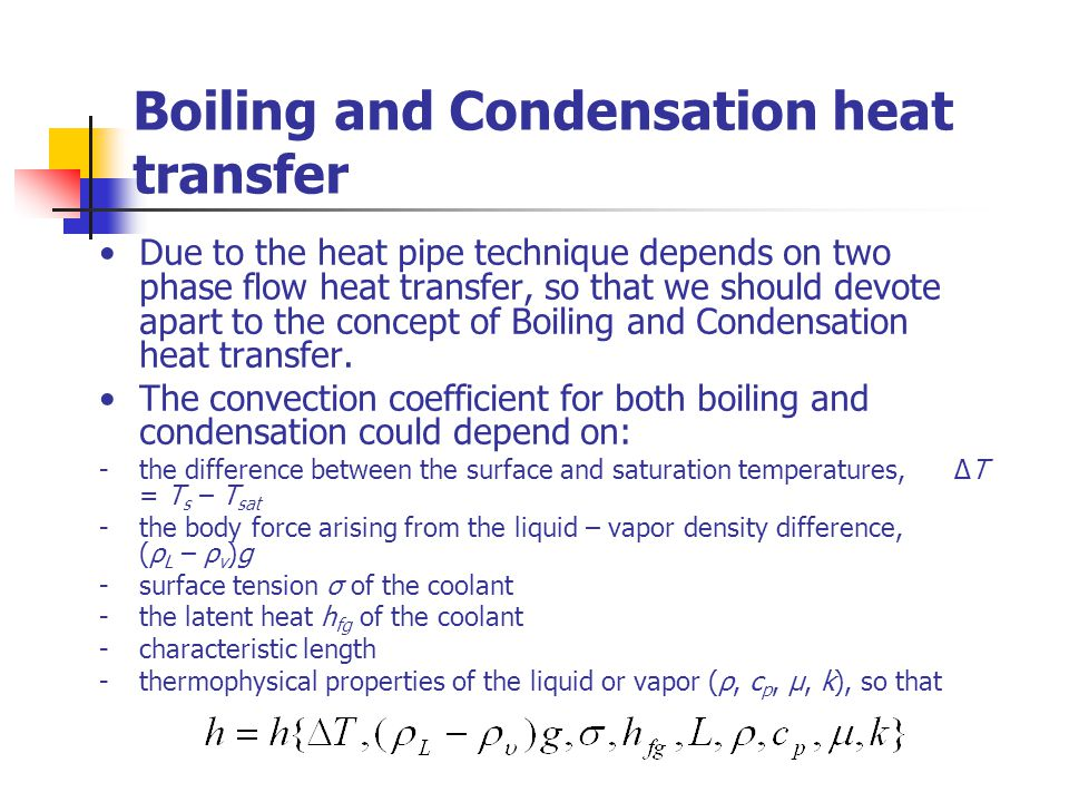 Boiling and Condensation heat transfer