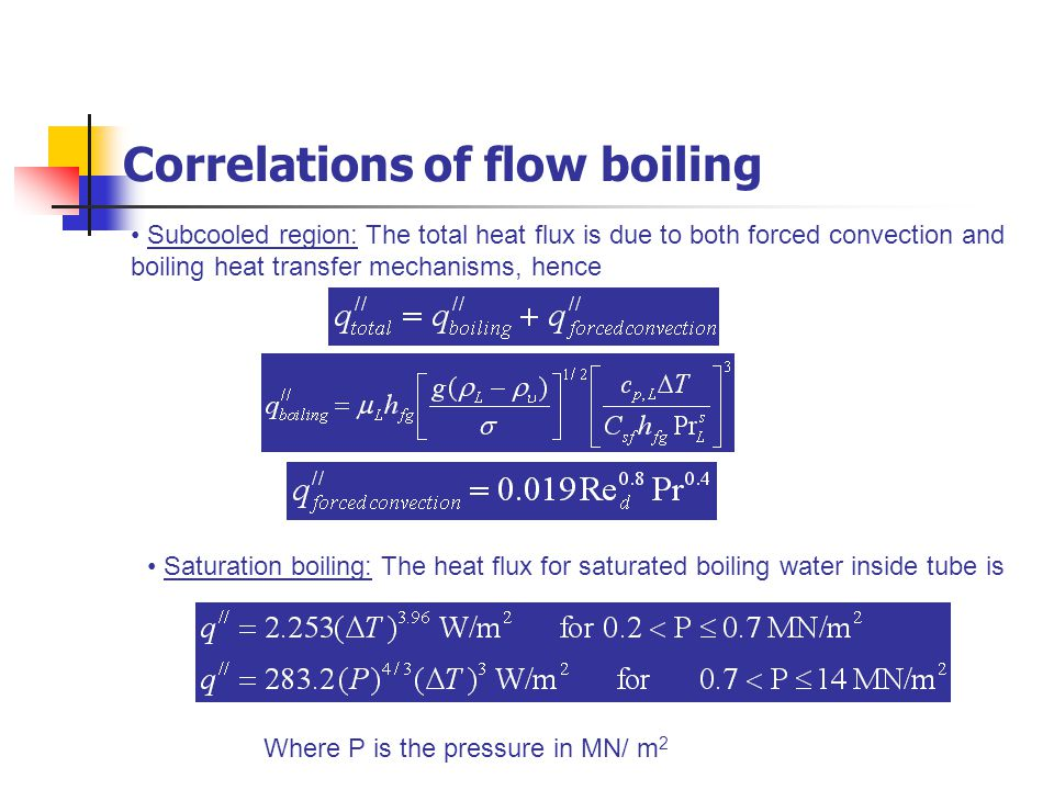 Correlations of flow boiling