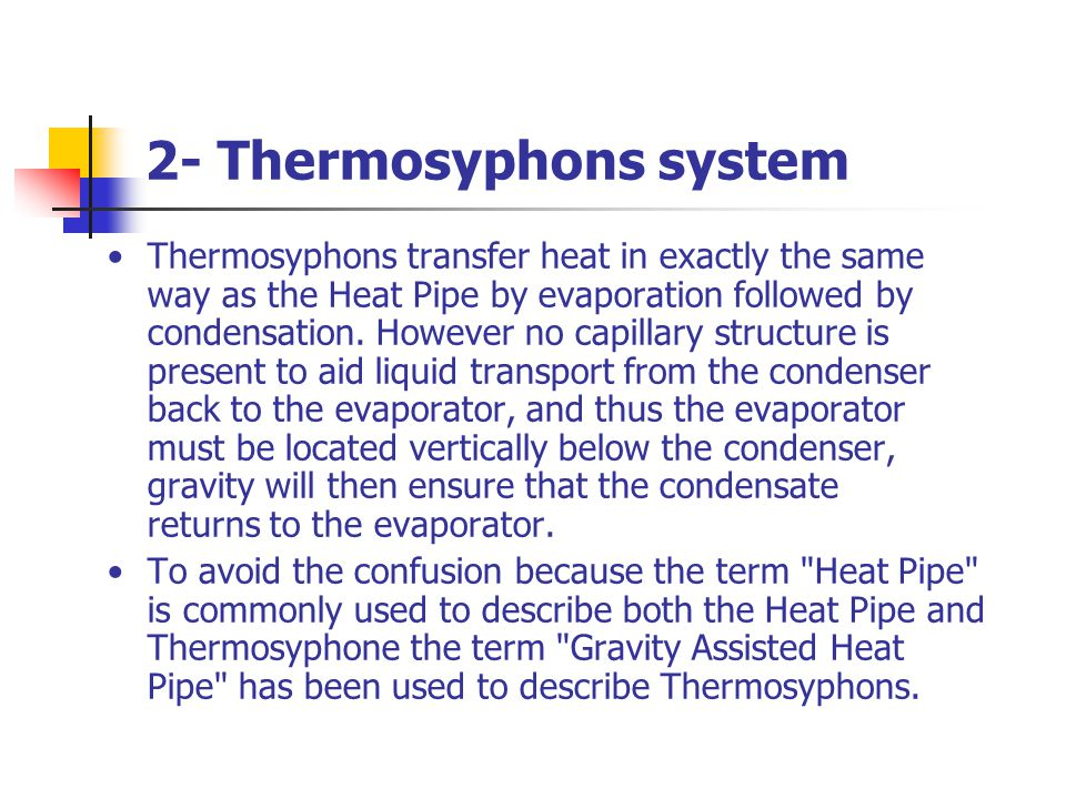 2- Thermosyphons system