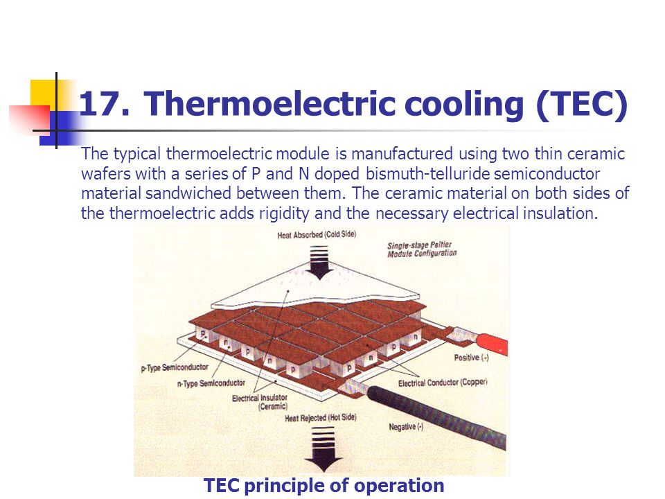 17. Thermoelectric cooling (TEC)