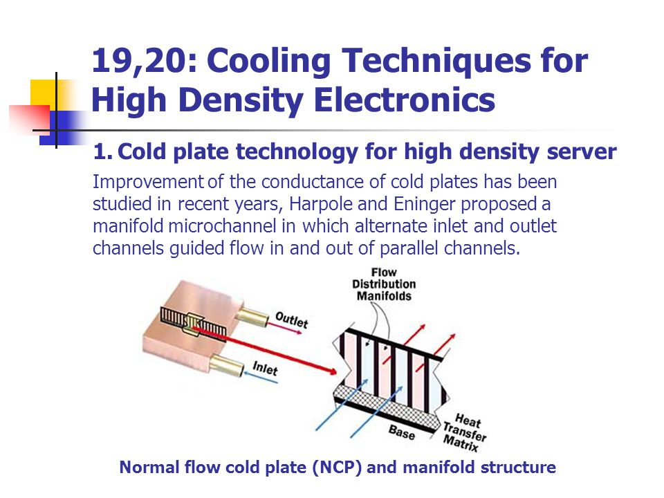 19,20: Cooling Techniques for High Density Electronics