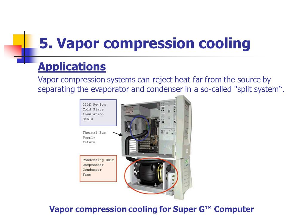 5. Vapor compression cooling