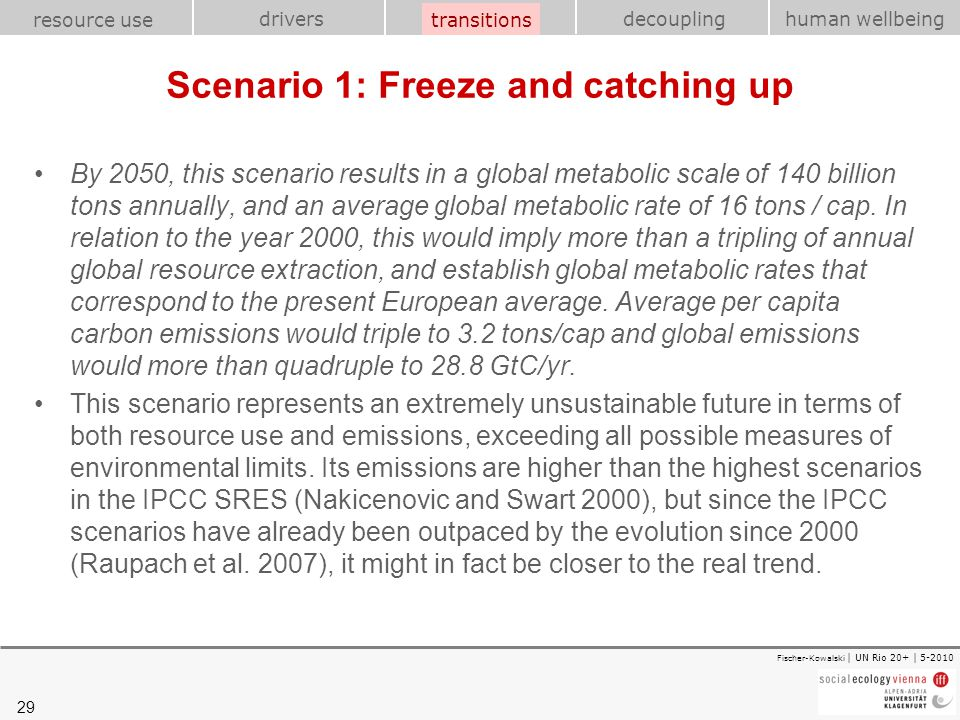 Scenario 1: Freeze and catching up