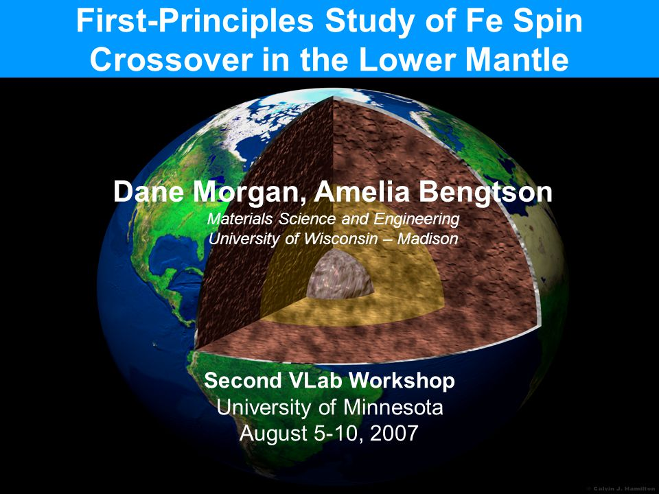 First-Principles Study of Fe Spin Crossover in the Lower Mantle