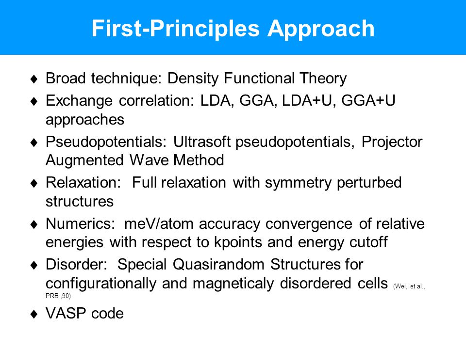 First-Principles Approach