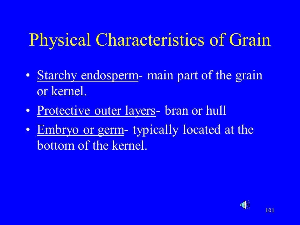 Physical Characteristics of Grain