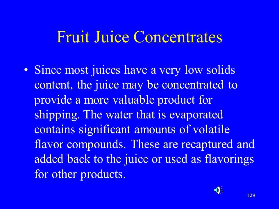 Fruit Juice Concentrates