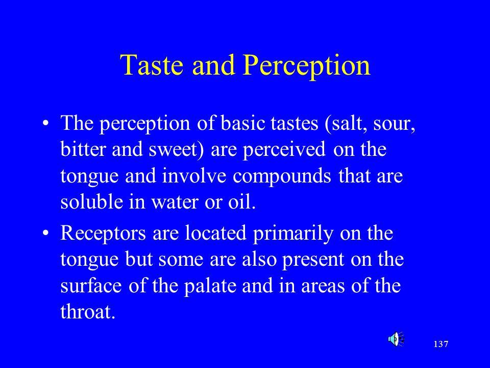 Taste and Perception