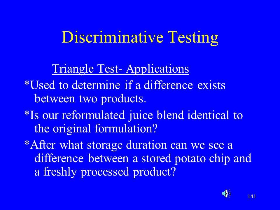 Discriminative Testing
