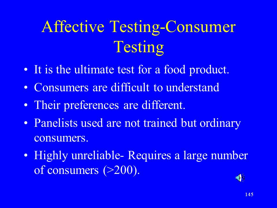 Affective Testing-Consumer Testing