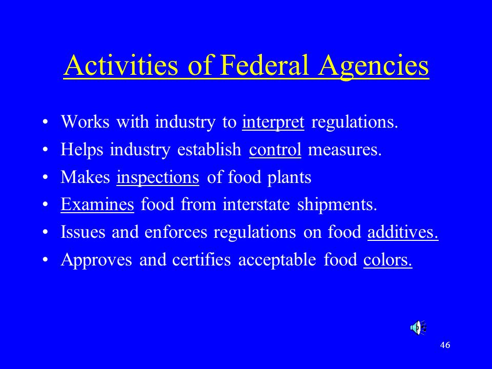 Activities of Federal Agencies