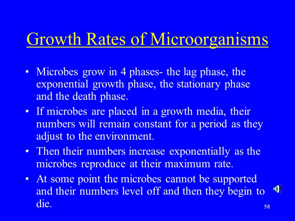 Growth Rates of Microorganisms