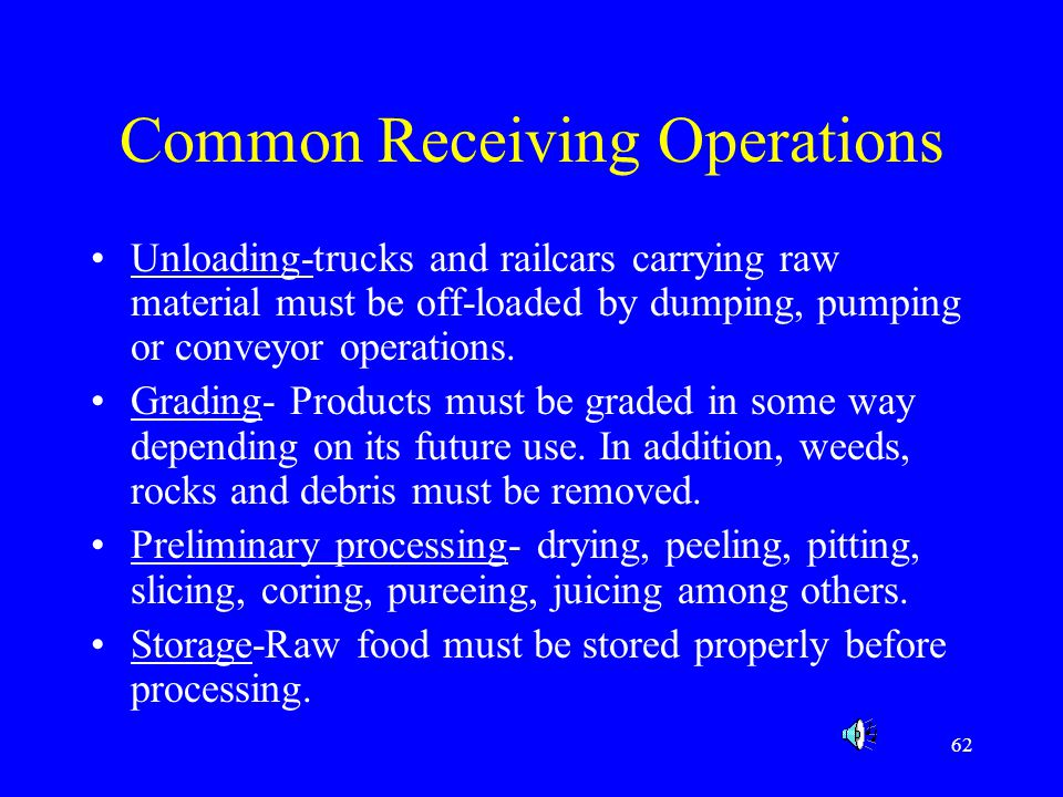 Common Receiving Operations