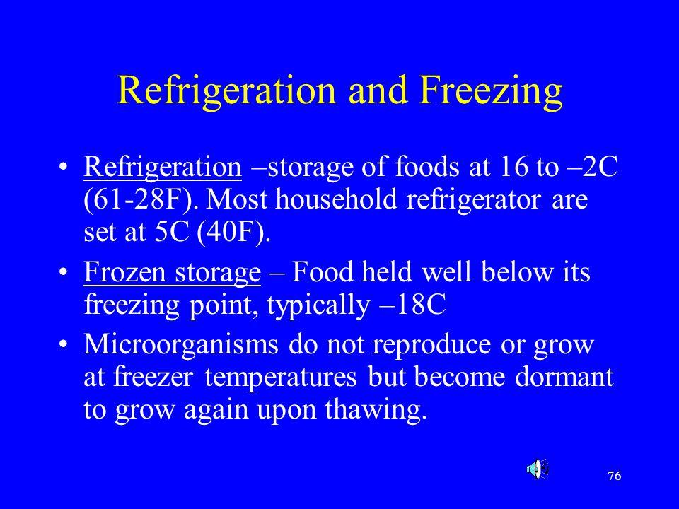 Refrigeration and Freezing