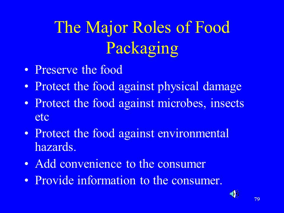 The Major Roles of Food Packaging