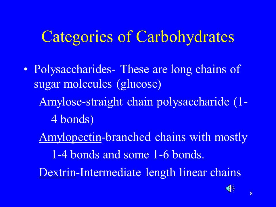 Categories of Carbohydrates
