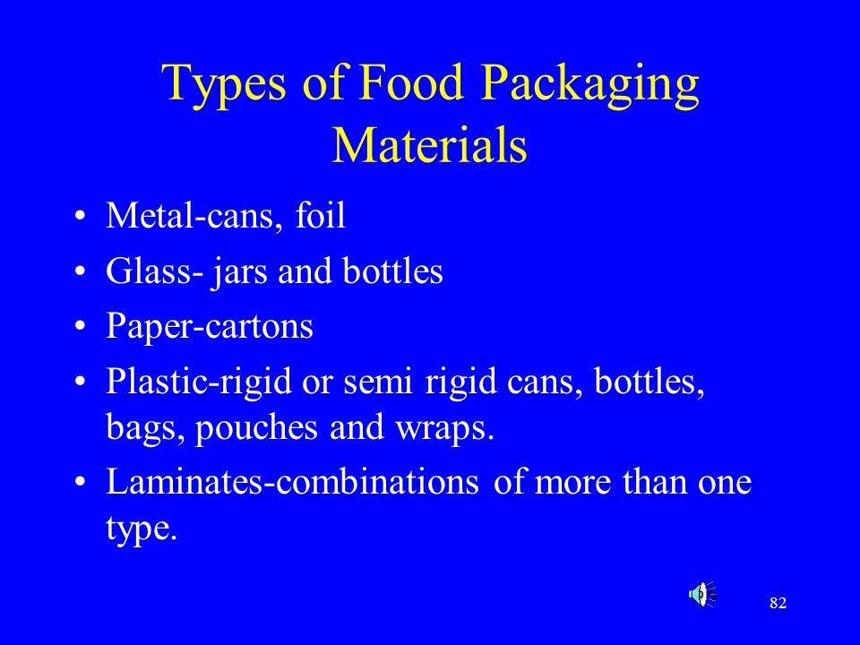 Types of Food Packaging Materials