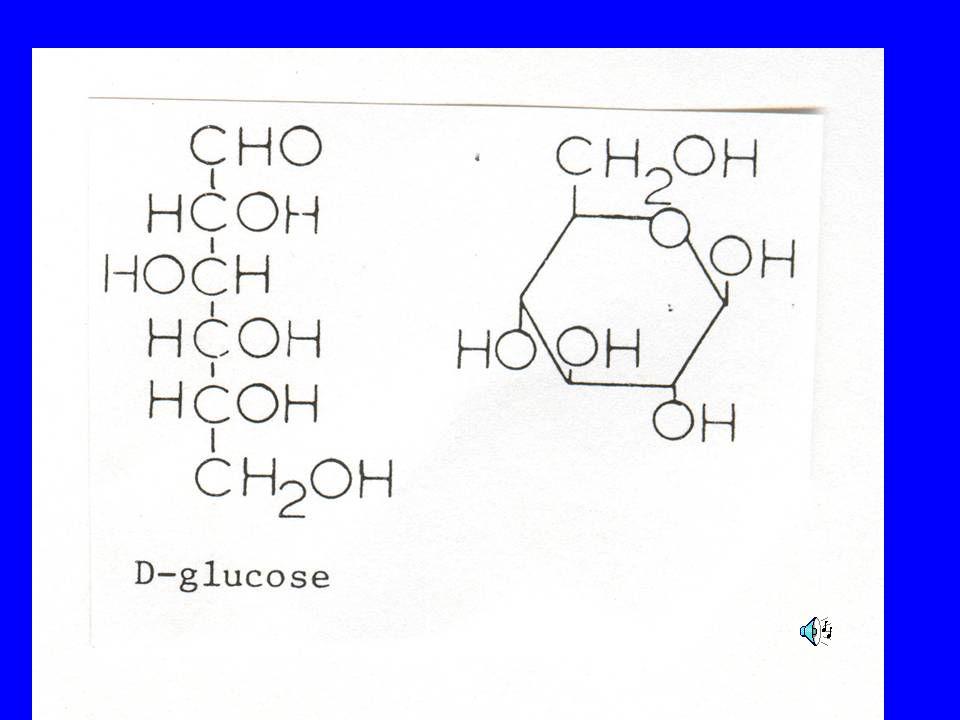 A glucose molecule written out in 2 formats