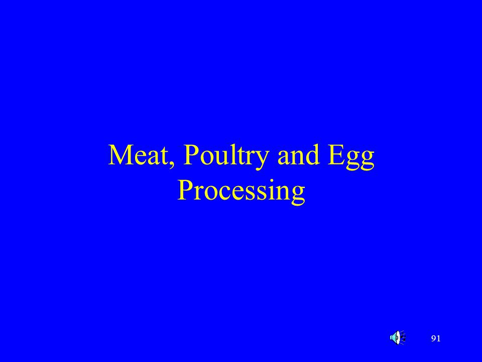 Meat, Poultry and Egg Processing