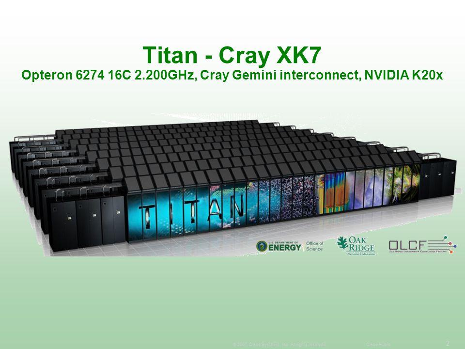 Titan - Cray XK7 Opteron 6274 16C 2