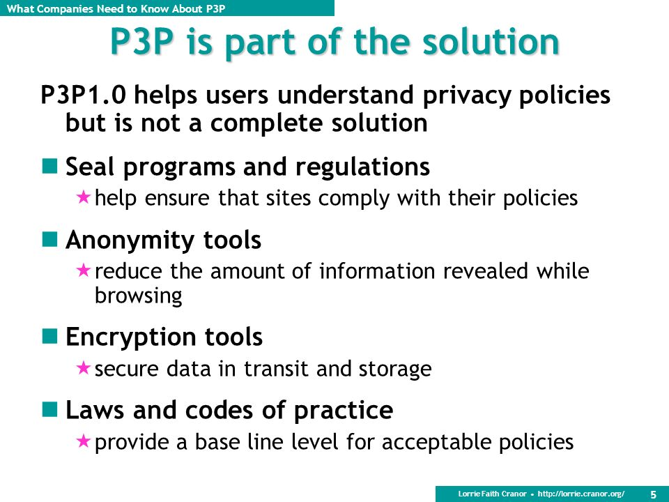 P3P is part of the solution